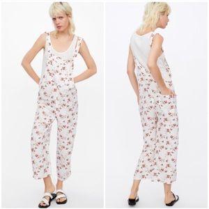 Zara Floral Linen Jumpsuit